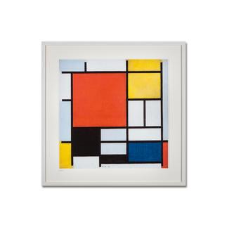 """Piet Mondrian: """"Komposition mit Rot, Gelb, Blau und Schwarz"""" (1926) Piet Mondrian """"Kompositon mit Rot, Gelb, Blau und Schwarz"""" (1926) als High-End Prints™. Endlich eine Qualität, die dem grossen Meisterwerk tatsächlich gerecht wird."""