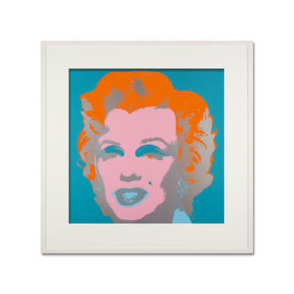 Andy Warhol – Marilyn hellblau Sunday B. Morning Siebdruck auf 1,52 mm starkem Museumskarton. Masse: gerahmt 112 x 112 cm