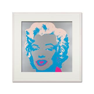 Andy Warhol – Marilyn silber Sunday B. Morning Siebdruck auf 1,52 mm starkem Museumskarton. Masse: gerahmt 112 x 112 cm