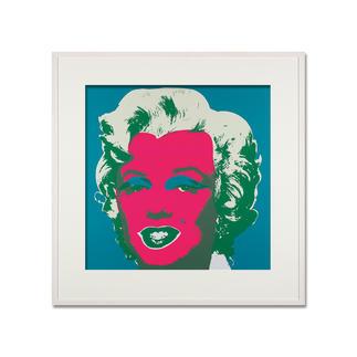 Andy Warhol – Marilyn blau Sunday B. Morning Siebdruck auf 1,52 mm starkem Museumskarton. Masse: gerahmt 112 x 112 cm