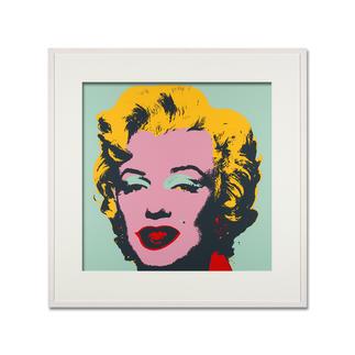 Andy Warhol – Marilyn türkis Sunday B. Morning Siebdruck auf 1,52 mm starkem Museumskarton. Masse: gerahmt 112 x 112 cm