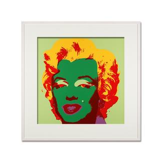 Andy Warhol – Marilyn hellgrün Sunday B. Morning Siebdruck auf 1,52 mm starkem Museumskarton. Masse: gerahmt 112 x 112 cm