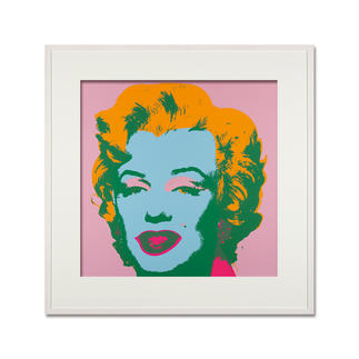 Andy Warhol – Marilyn rosa Sunday B. Morning Siebdruck auf 1,52 mm starkem Museumskarton. Masse: gerahmt 112 x 112 cm