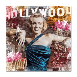 """Devin Miles – As Rose II Devin Miles: Der Shootingstar der deutschen """"Modern Pop-Art"""". Unikatserie aus Malerei, Siebdruck und Airbrush auf gebürstetem Aluminium. 100 % Handarbeit. Masse: 130 x 130 cm"""