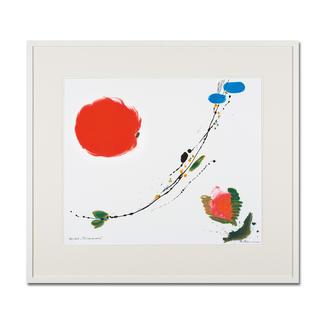 Brigitta Zeumer – Primavera Die erste deutsche Künstlerin, die zu Lebzeiten im Kaiserpalast in China ausstellen durfte. Brigitta Zeumers Siebdruck aus 15 Farben. 100 Exemplare. Masse: gerahmt 86 x 76 cm