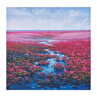 Pei Lian Zhi – Romantic Daydream Pei Lian Zhi: In mehr als 200 Sammlungen vertreten. Jetzt auch in Ihrer? Masse: 120 x 120 cm
