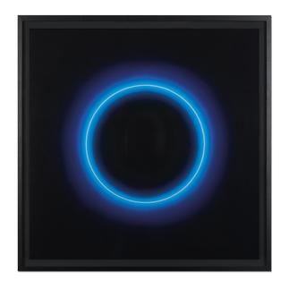 """Fabrizius²: """"Ohne Titel – Kreis Weiss in Blau"""" Die vierhändige Kunstsensation.  Erste Edition der Zwillingsschwestern Fabrizius. 35 Exemplare."""