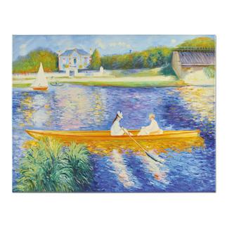 """Zhong Lirong malt Renoir: """"La Yole"""" Renoirs """"La Yole"""": Die perfekte Kunstkopie – 100 % von Hand in Öl gemalt."""