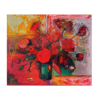 "Axel Kentsch: ""Rosas de Mallorca"" Axel Kentschs erste Edition – handübermalt. Exklusiv bei Pro-Idee. 33 Exemplare."