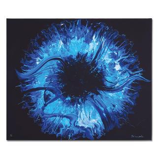 Yelizavyeta – Blue Space Erste Edition der Künstlerin Yelizavyeta – von Hand übermalt. Faszinierende Dreidimensionalität. 40 Exemplare. Exklusiv bei Pro-Idee.