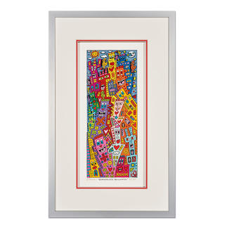 James Rizzi – Borderless Buildings 3D-Papierskulpturen des verstorbenen James Rizzi. 50 Exemplare.