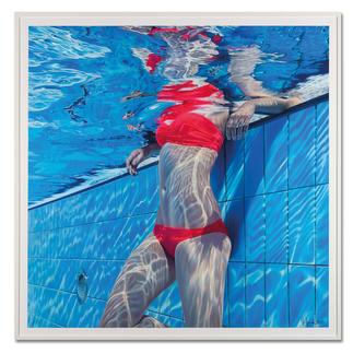 Jean-Pierre Kunkel – Pool No. 15 Jean-Pierre Kunkel: Fotorealistische Malerei in höchster Präzision. Erste Edition – exklusiv bei Pro-Idee. 40 Exemplare. Masse: gerahmt 120 x 120 cm