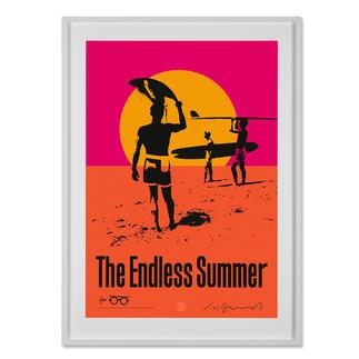 """John van Hamersveld – The Endless Summer John van Hamersvelds """"The Endless Summer"""" im MOMA New York – und jetzt bei Ihnen zu Hause. Legendäres Surf-Poster. 40 exklusive Exemplare mit Nummerierung, Unterschrift des Künstlers und Studiostempel. Masse: gerahmt 85,5 x 117 cm"""