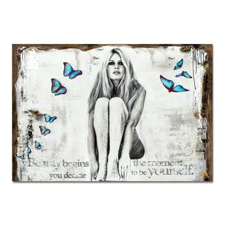 """Devin Miles – Butterflies II Devin Miles: Der Shootingstar der deutschen """"Modern Pop-Art"""".  Unikatserie aus Malerei und Siebdruck auf gespachtelter Leinwand. 100 % Handarbeit. Masse: 122 x 84 cm"""