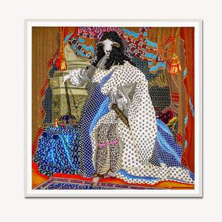 Adam Karamanlis – Status Adam Karamanlis´ Werke bei Christie´s in Düsseldorf. Und nun bei Ihnen zu Hause. Handübermalte Edition seines bedeutendsten Werkes. 40 Exemplare. Masse: gerahmt 109 x 109 cm