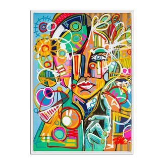 David Tollmann – Happy Lady David Tollmann: Unverwechselbare Kunst in dritter Generation. Erste Leinwand-Edition. Handübermalt. 50 Exemplare. Masse: gerahmt 74 x 104 cm