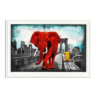Lars Tunebo – Tripping on Brooklyn Bridge Lars Tunebos handkolorierte Unikatserie. Neueste Edition exklusiv bei Pro-Idee. 40 Exemplare. Masse: gerahmt 90 x 60 cm