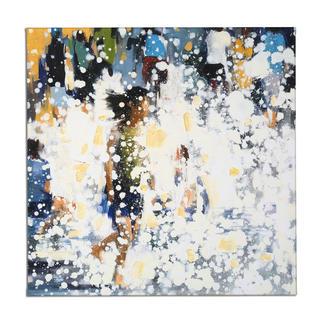 Renata Tumarova – The Flow Renata Tumarova editiert exklusiv für Pro-Idee ihr bisher nicht veröffentlichtes Werk. Von der Künstlerin übermalt. 40 Exemplare. Masse: 80 x 80 cm