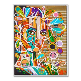 David Tollmann – Goldener Käfig II David Tollmann: Unverwechselbare Kunst in dritter Generation. Neueste Leinwand-Edition. Handübermalt. 49 Exemplare. Masse: gerahmt 79 x 104 cm