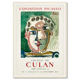 Pablo Picasso – Kopf eines bärtigen Mannes Zufallsfund: 50 Lithografien, die von Pablo Picasso persönlich autorisiert wurden. Im Werksverzeichnis aufgeführt. Exklusiv bei Pro-Idee. Masse: gerahmt 60 x 85 cm