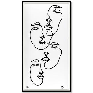 Andrés Ribón Troconis – Family Andrés Ribón Troconis: Der Geheimtipp aus Südamerika. Dritte Pro-Idee Edition (die ersten beiden waren nach kurzer Zeit ausverkauft). 40 Exemplare. Masse: gerahmt 60 x 110 cm