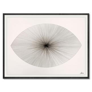 John Franzen – Each Line One Breath_2020 Jede Linie ein Atemzug. John Franzens ellipsenförmiges Meisterwerk. Exklusiv bei Pro-Idee. Masse gerahmt: 108 x 78 cm