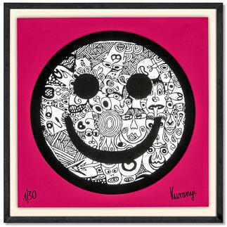 Romulo Kuranyi – Smiley Romulo Kuranyi: Der international gefeierte Künstler editiert seine erste Edition. Exklusiv bei Pro-Idee. 30 Exemplare. Masse gerahmt: 70 x 70 cm.