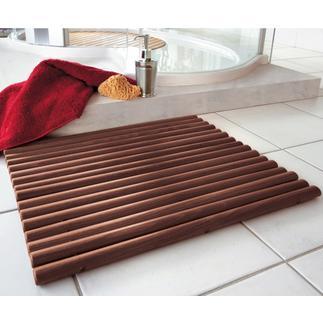 Holzvorleger Durch ovale Holzstäbe besonders fussfreundlich. Pflegeleicht abwaschbar.