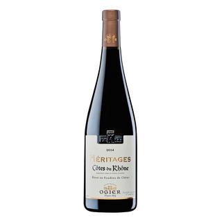 Héritages Rouge 2014, Ogier, Côtes du Rhône AOC, Frankreich In Frankreich bereits mehrfach ausgezeichnet. International (noch) unbekannt. (Und daher angenehm günstig.)