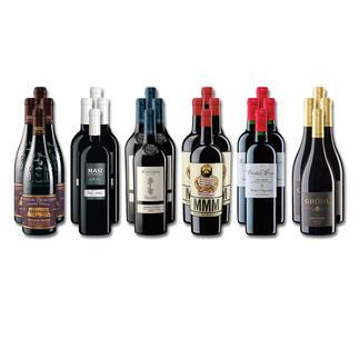 """Weinsammlung """"Die kleine Rotwein-Sammlung für anspruchsvolle Geniesser Sommer 2016"""", 24 Flaschen Wenn Sie einen kleinen, gut gewählten Weinvorrat anlegen möchten, ist dies jetzt besonders leicht."""