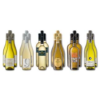"""Weinsammlung """"Die kleine Weisswein-Sammlung Frühjahr 2018"""", 24 Flaschen Wenn Sie einen kleinen, gut gewählten Weinvorrat anlegen möchten, ist dies jetzt besonders leicht."""