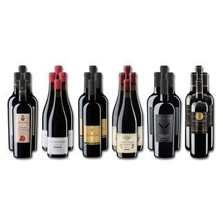 """Weinsammlung """"Die kleine Rotwein-Sammlung für anspruchsvolle Geniesser Frühjahr 2018"""", 24 Flaschen Wenn Sie einen kleinen, gut gewählten Weinvorrat anlegen möchten, ist dies jetzt besonders leicht."""
