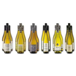 """Weinsammlung """"Die kleine Weisswein-Sammlung Frühjahr/Sommer 2018"""", 24 Flaschen Wenn Sie einen kleinen, gut gewählten Weinvorrat anlegen möchten, ist dies jetzt besonders leicht."""