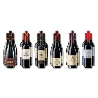 """Weinsammlung """"Die kleine Rotwein-Sammlung für anspruchsvolle Geniesser Frühjahr/Sommer 2018"""", 24 Flaschen Wenn Sie einen kleinen, gut gewählten Weinvorrat anlegen möchten, ist dies jetzt besonders leicht."""
