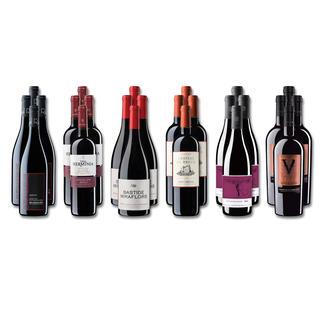 """Weinsammlung """"Die kleine Rotwein-Sammlung für anspruchsvolle Geniesser Sommer 2018"""", 24 Flaschen Wenn Sie einen kleinen, gut gewählten Weinvorrat anlegen möchten, ist dies jetzt besonders leicht."""