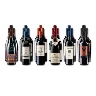 """Weinsammlung """"Die kleine Rotwein-Sammlung für anspruchsvolle Geniesser Herbst 2018"""", 24 Flaschen Wenn Sie einen kleinen, gut gewählten Weinvorrat anlegen möchten, ist dies jetzt besonders leicht."""