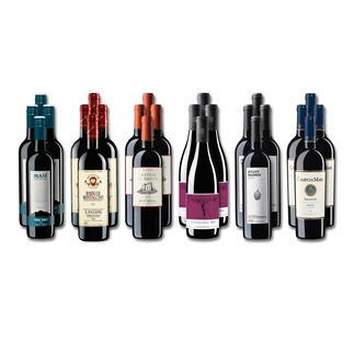 """Weinsammlung """"Die kleine Rotwein-Sammlung für anspruchsvolle Geniesser Winter 2018"""", 24 Flaschen Wenn Sie einen kleinen, gut gewählten Weinvorrat anlegen möchten, ist dies jetzt besonders leicht."""