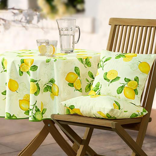 Provenzalische Tischwäsche Stilvoll wie in der Provence. Dabei fleckabweisend, lichtecht und pflegeleicht. Für drinnen und draussen.