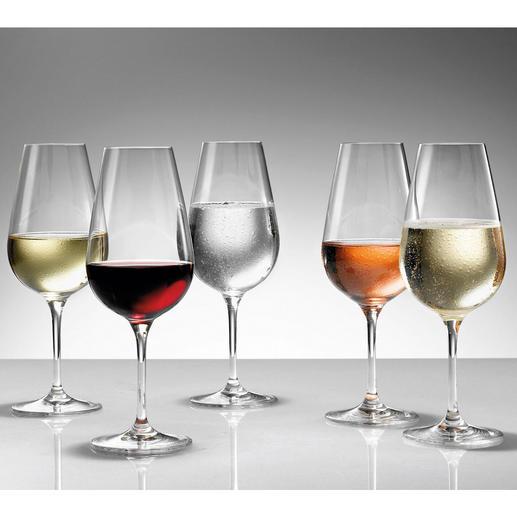 """""""Perfekter Trinkgenuss für alleRot- und Weissweine, Schaumweine und Brände. Ein Glas für alle Fälle empfehle ich den Weinfreunden von  Pro-Idee.""""  Profi-Sommelier Peter Steger"""