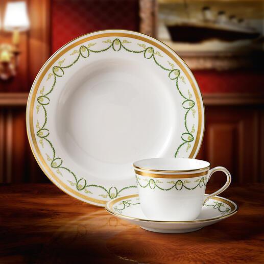 Titanic-Collection - Das Porzellan des First-Class-Restaurants der Titanic. Mit Monogramm und echtem 22-Karat-Goldrand.
