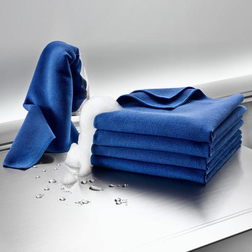 Ultrafeines Microfaser-Reinigungstuch oder -Spültuch, 5er-Set Perfekte Spül- und Reinigungstücher: bis zu 7-mal feiner als herkömmliche Microfaser.
