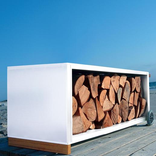 Die klare Form und die hochwertigen Materialien machen dieses Design-Highlight zum attraktiven Blickfang – drinnen und draussen.