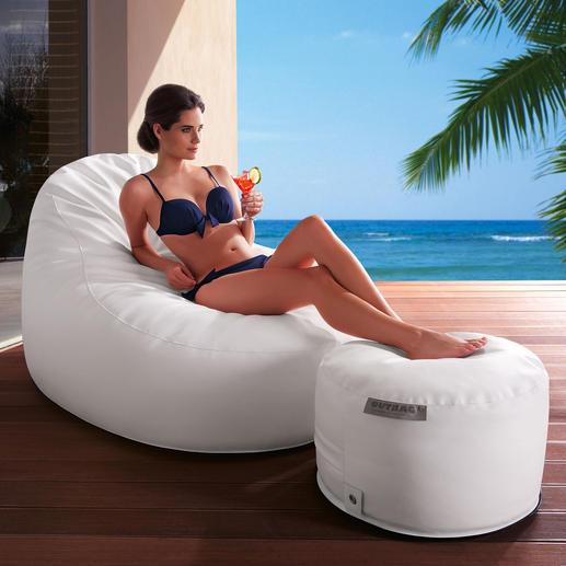 Outdoor Relax-Möbel deluxe Luxuriös wie ein edler Ledersessel im Wohnraum – aber ganzjährig outdoor-geeignet.