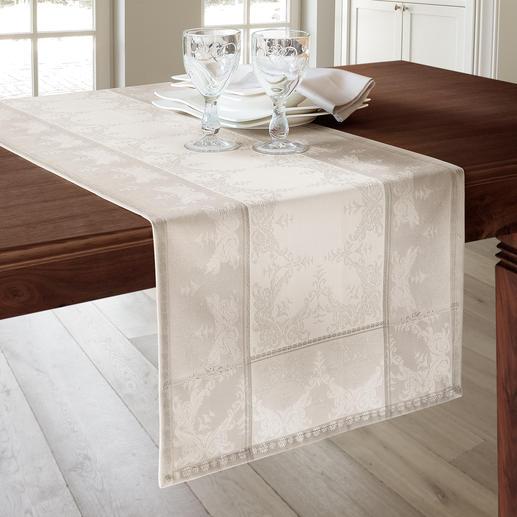 Aussergewöhnlich stylisch auch als 145 cm Tischläufer – längs oder in Querbahnen aufgelegt.