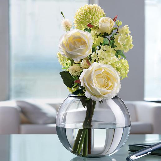 Variable Blumenvase Die Vier-Jahreszeiten-Vase: zaubert aus üppigen Sträussen und einzelnen Blumen immer ein schönes Gesteck.