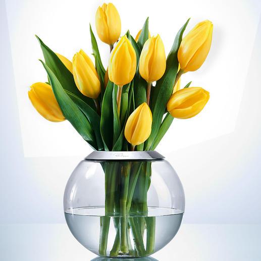 Im Passring mit 7,5 cm Ø Öffnung entfalten sich auch üppige Sträusse aus Frühlingstulpen, Wiesenblumen, Christrosen, … rundum perfekt.