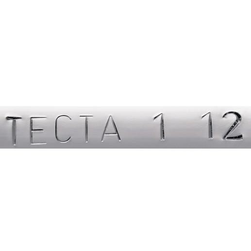 Auf der Unterseite der Reling sind das Original TECTA®-Logo und das Herstellungsdatum Ihres Konsolwagens eingeprägt.
