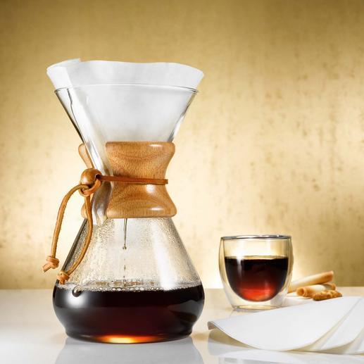 Chemex® Kaffee-Karaffe - Kaffee-Kult 2013: Das Comeback des Handgebrühten. Prämiert als eines der 100 besten Designs der Neuzeit.