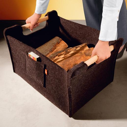 An den 2,5 cm Ø Rundgriffen tragen Sie auch schwere Lasten ganz bequem.