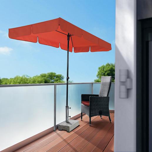 """Balkonschirm """"Sunline Waterproof III"""" Endlich auch auf dem Balkon ein idealer Sonnenschutz.Rechteck- statt Rundschirm.Wasserdicht & schmutzabweisend."""